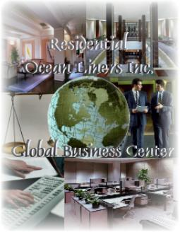 Residential Ocean Liners Inc., Global Business Center, Business Services while living onboard, taking a cruise, or on vacation, anywhere in the world.