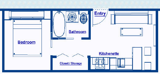 New ocean liner 250 sq ft stateroom not a cruise ship 250 square foot apartment floor plan