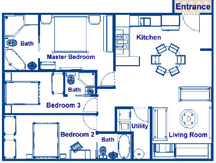 Second largest stateroom on deck level r 900 sq ft family for 900 sq ft house plans 3 bedroom